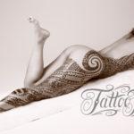 Tattoo Jos Oss Black and grey 19 Polynesisch leg been torso female