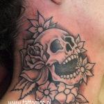 Tattoo Jos Oss Black and grey 26 skull rozen