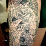 Tattoo Jos Oss Black and grey 32 slang