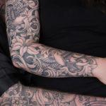 Tattoo Jos Oss Black and grey 38 sleeve female man