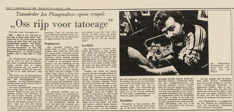 krant1984 Tattoo Jos