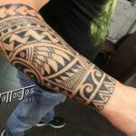 Tattoo Jos Oss Polynesisch Maori tribal 97 onderarm